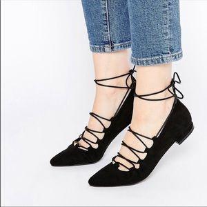 Francesca's Black lace Flats